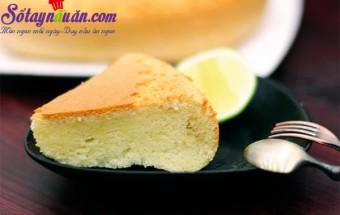 Nấu ăn món ngon mỗi ngày với Bột bắp, Cách làm bánh bông lan ngon chỉ bằng nồi cơm điện kết quả