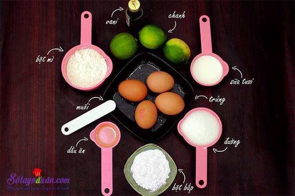 Cách làm bánh bông lan ngon chỉ bằng nồi cơm điện  nguyên liệu