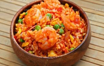 Nấu ăn món ngon mỗi ngày với Cà chua, Cách làm cơm rang tôm trứng ngon hết sẩy
