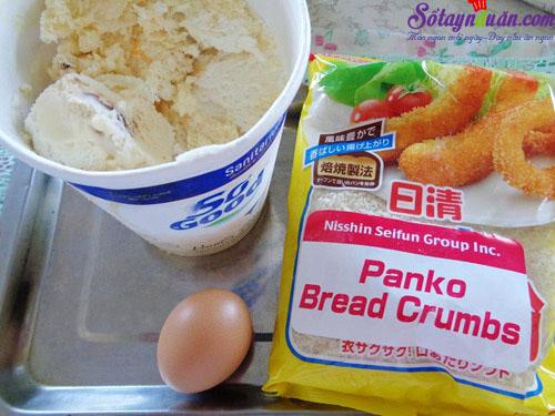 Cách làm kem chiên ngon hơn cả ngoài hàng nguyên liệu