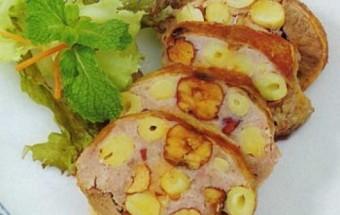 Nấu ăn món ngon mỗi ngày với Tiêu, Cách làm món thịt chim bồ câu nhồi thập cẩm đơn giản.