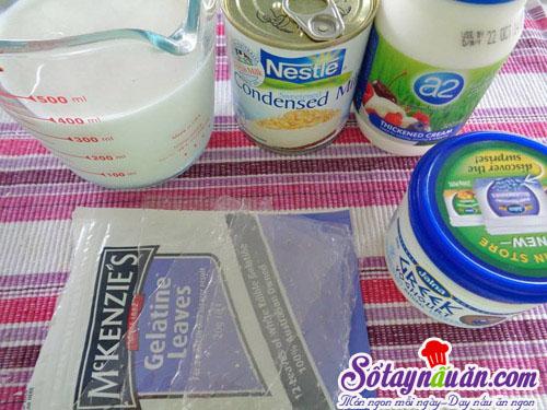 Cách làm sữa chua dẻo đơn giản ngay tại nhà nguyên liệu