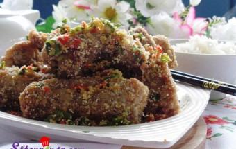 Nấu ăn món ngon mỗi ngày với Bột bắp, Hướng dẫn làm sườn non rang thính cực ngon lạ miệng