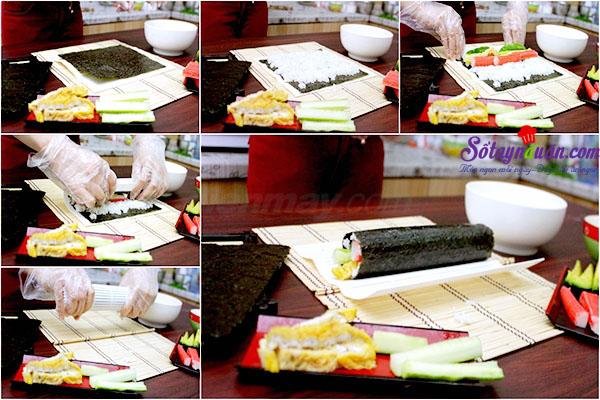 Cách làm sushi ngon tuyệt hảo và cực kì đơn giản 3