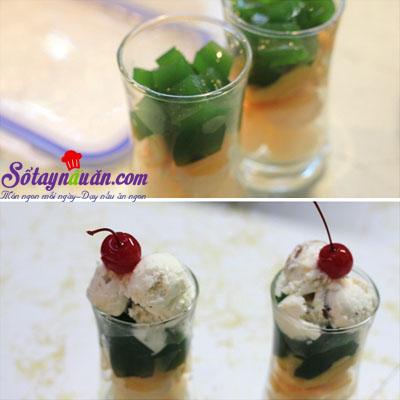 Cách làm thạch trà xanh trái cây giải nhiệt mùa hè 7