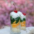 sữa chua, Cách làm thạch trà xanh trái cây giải nhiệt mùa hè kết quả