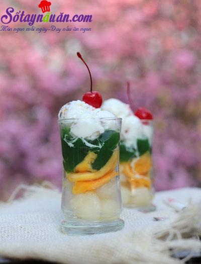 Cách làm thạch trà xanh trái cây giải nhiệt mùa hè kết quả