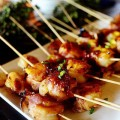 cánh gà nướng. cách làm món cánh gà nướng, Cách làm thịt cuộn tôm và dứa nướng thơm phức