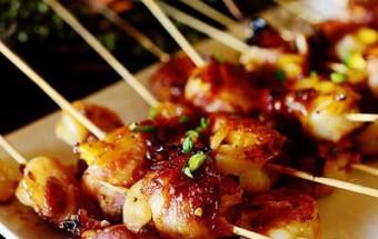 Nấu ăn món ngon mỗi ngày với Dứa, Cách làm thịt cuộn tôm và dứa nướng thơm phức