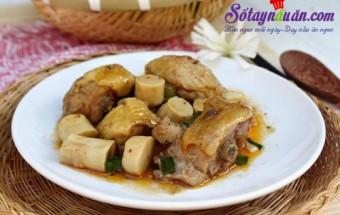 nấu món kho, Cách làm thịt gà kho măng cực ngon