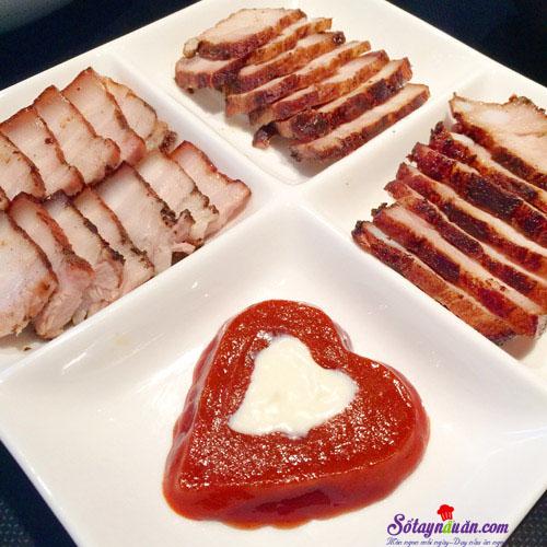 Cách làm thịt tẩm húng lìu áp chảo siêu ngon thành phẩm