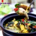 thịt kho tộ, Cách nấu món ếch om chuối đậu thơm ngon bổ dưỡng