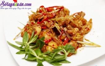 Nấu ăn món ngon mỗi ngày với Tiêu, Cách nấu món gà rang xả ớt ngon tuyệt cú mèo