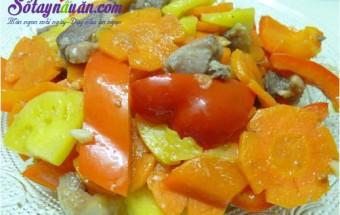 Nấu ăn món ngon mỗi ngày với Dứa, Cách làm món vịt xào ớt chuông ngon đúng vị