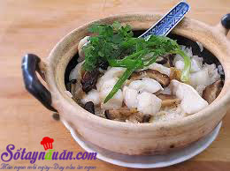 Nấu ăn món ngon mỗi ngày với Nước tương, Cách làm cơm cá hấp nấm vị đậm đà khó quên