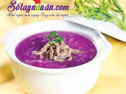 Nấu ăn món ngon mỗi ngày với Nước dùng, Hướng dẫn làm canh khoai tím nấu thịt cực ngon, bắt mắt