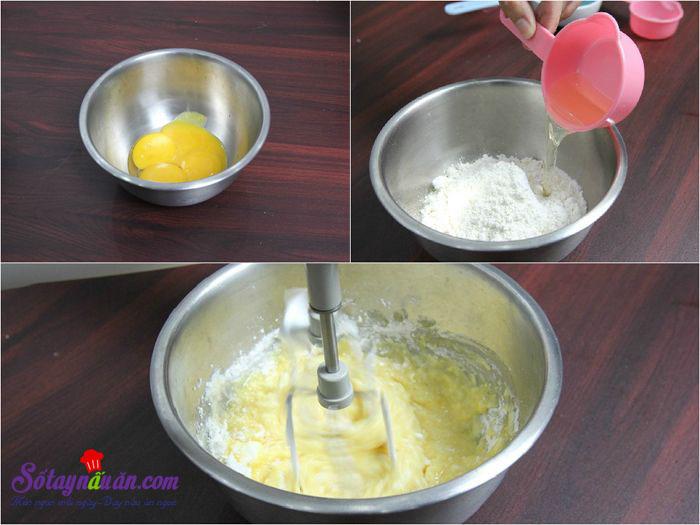 Hướng dẫn làm bánh bông lan cuộn siêu đơn giản 2