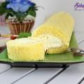 đồ ăn vặt, Hướng dẫn làm bánh bông lan cuộn siêu đơn giản kết quả