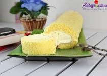Hướng dẫn làm bánh bông lan cuộn siêu đơn giản