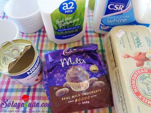 Hướng dẫn làm bánh flan chocolate thơm ngon đẹp mắt nguyên liệu