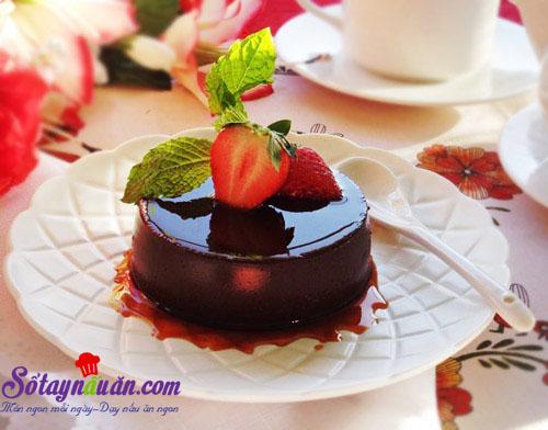Hướng dẫn làm bánh flan chocolate thơm ngon đẹp mắt
