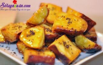 Nấu ăn món ngon mỗi ngày với Mạch nha, Hướng dẫn làm khoai lang tẩm sirô ngon tuyệt