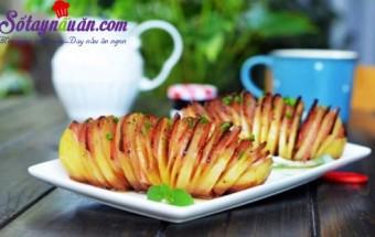 món nướng, Hướng dẫn làm món khoai tây kẹp thịt hun khói ngon
