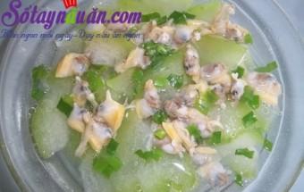 Nấu ăn món ngon mỗi ngày với Bột canh, Hướng dẫn nấu canh ngao bí đao cho ngày nắng.