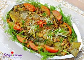 Nấu ăn món ngon mỗi ngày với thì là, Cách làm cá chép om dưa đậm đà đưa cơm