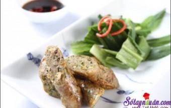 Nấu ăn món ngon mỗi ngày với bột ngọt, Cách làm dồi ếch chiên thơm ngon hấp dẫn