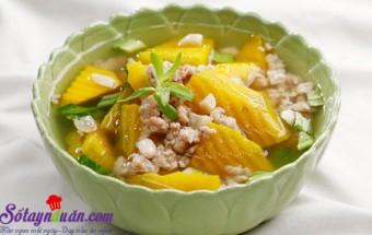 Nấu ăn món ngon mỗi ngày với Bí đỏ, Cách nấu canh bí đậu phộng thơm ngon bổ dưỡng