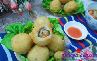 Nấu ăn món ngon mỗi ngày với Bột gạo tẻ, cách làm bánh rán mặn nhân thịt 8