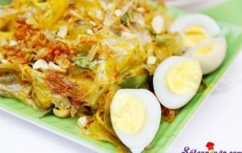 Nấu ăn món ngon mỗi ngày với Trứng cút, cách làm bánh tráng trộn
