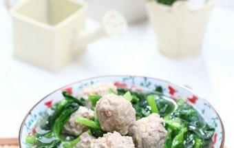 Cách nấu canh, cách làm canh rau cải thịt viên 6