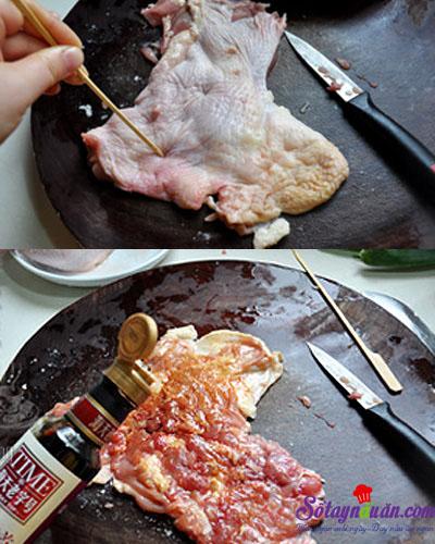 cách làm gà nướng giấy bạc  2