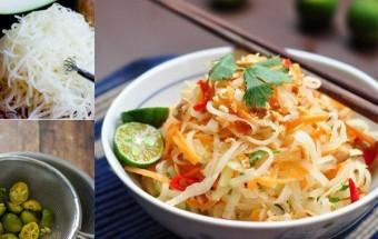 Nấu ăn món ngon mỗi ngày với Lạc rang, cách làm nộm đu đủ