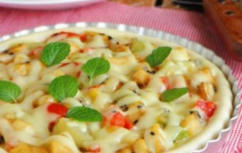 Nấu ăn món ngon mỗi ngày với Cà chua bi, cách lamg pizza hoa quả 5