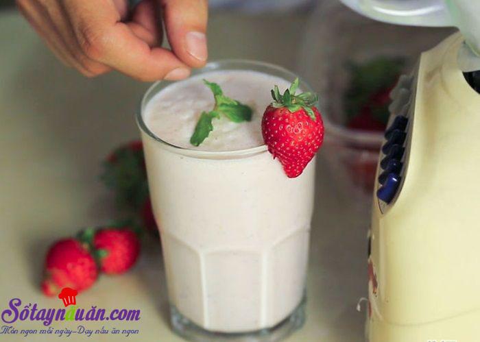 Cách làm sữa lắc với máy xay sinh tố thơm ngon bổ dưỡng 4