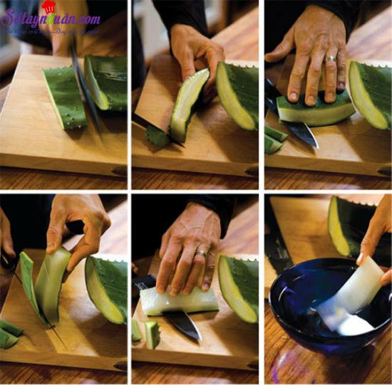 cách nấu chè nha đam  3