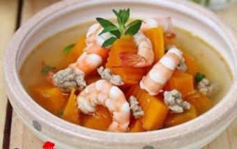 Nấu ăn món ngon mỗi ngày với Bí đỏ, Cách nấu canh bí đỏ nấu tôm sườn tuyệt ngon