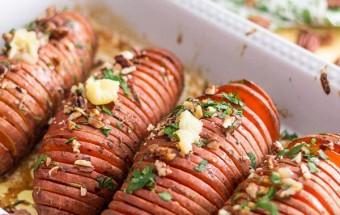 Nấu ăn món ngon mỗi ngày với Khoai lang, Hướng dẫn làm khoai nướng hasselback Thuỵ Điển lạ miệng kết quả