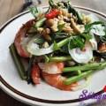 nộm ốc, Cách làm gỏi tôm rau rút ngon ngọt đưa cơm