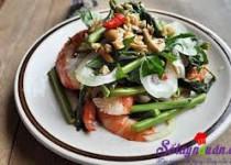 Cách làm gỏi tôm rau rút ngon ngọt đưa cơm