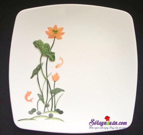 Mẹo trang trí đĩa ăn hình hoa sen đẹp mắt kết quả 1
