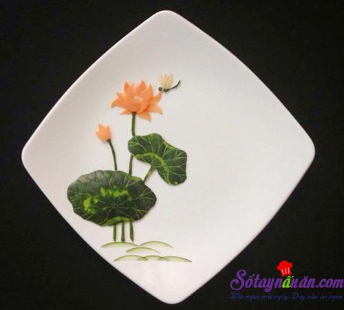 Mẹo trang trí đĩa ăn hình hoa sen đẹp mắt kết quả 4