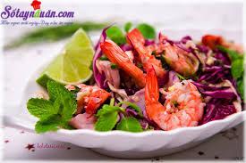 Nấu ăn món ngon mỗi ngày với Chanh tươi, Kinh nghiệm làm salad tôm ngon tuyệt hảo