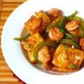 cơm trọn hải sản, Hướng dẫn làm tôm xào đậu phụ đơn giản mà ngon