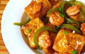 Nấu ăn món ngon mỗi ngày với Đậu phụ, Hướng dẫn làm tôm xào đậu phụ đơn giản mà ngon