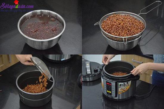 cách nấu chè đậu đỏ nước cốt dừa 2