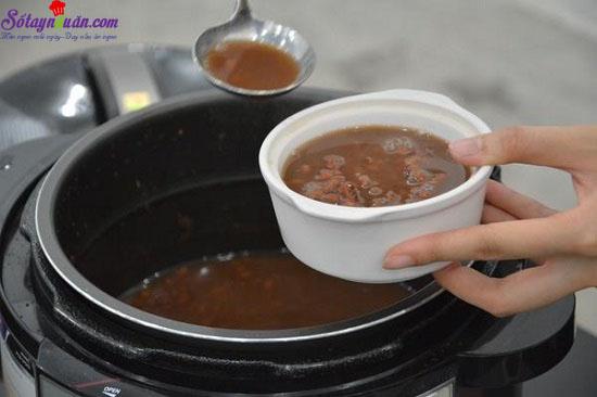 cách nấu chè đậu đỏ nước cốt dừa 5